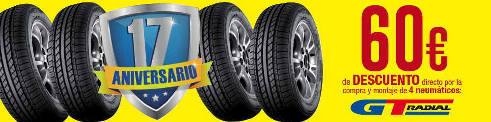 60€ descuento GT Radial