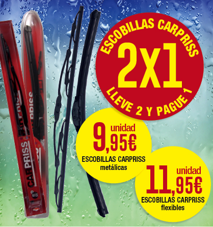 2x1 en escobillas Carpriss