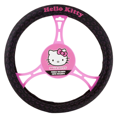 Imagen de funda volante hello kitty negro kit3019
